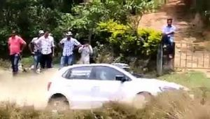 Polo Crashes During Virajpet Rally Stage