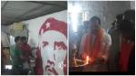 സിപിഎം ഓഫീസ് ബിജെപി ഓഫീസാക്കി; ചെഗുവേരയുടെ ചിത്രം മായ്ച് താമര വരച്ചു, സിപിഎം പറയുന്നത്...