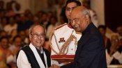 മുൻ രാഷ്ട്രപതി പ്രണബ് മുഖർജി ഭാരത് രത്ന പുരസ്കാരം ഏറ്റുവാങ്ങി
