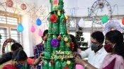 പ്ലാസ്റ്റിക് കുപ്പി കൊണ്ട് ക്രിസ്തുമസ് ട്രീയും പുൽക്കൂടും, ആലപ്പുഴയിലെ വേറിട്ട ക്രിസ്തുമസ് ആഘോഷം