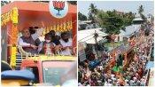 തൃപ്പൂണിത്തുറയില് ബിജെപിക്ക് ആവേശമായി അമിത് ഷായുടെ റോഡ് ഷോ, വെയിലത്ത് കാത്ത് നിന്ന് പ്രവർത്തകർ