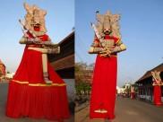 പാണ്ഡവപ്രതിമകള് ഉയര്ന്നു, പത്മനാഭന് ഇത് പൈങ്കുനി