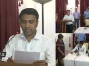 ഗോവ മുഖ്യമന്ത്രിയായി ബിജെപി നേതാവ് പ്രമോദ് സാവന്ത് സത്യപ്രതിജ്ഞ ചെയ്തു! സത്യപ്രതിജ്ഞ രാത്രി 2മണിക്ക്