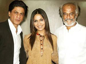 Sharukh, Aishwarya With Rajini