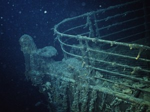Thrill-seekers may get a glimpse of the prow of the Titanic on the dive down to the ocean floor