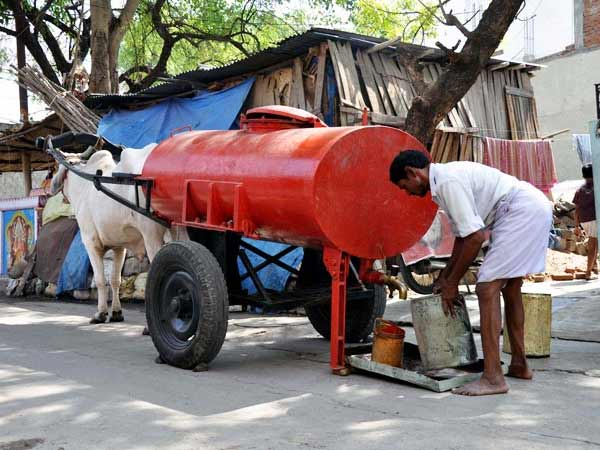 tanker bullock cart street photo story