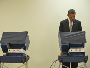 Obama Casts Vote, Becomes First President To Cast His Ballot Early