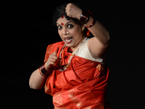 Mini Chandran Performing A Solo Drama Otta Chilambu