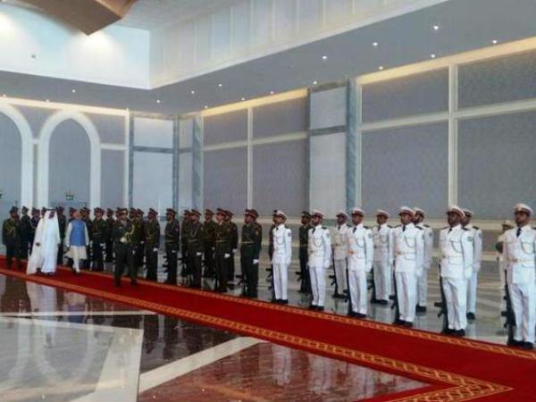 Prime Minister Narendra Modi Arrives In Abu Dhabi