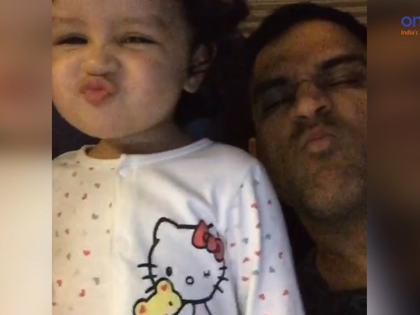 Dhoni S Daughter Ziva Calling Her Dad Mahi Watch Cute Video