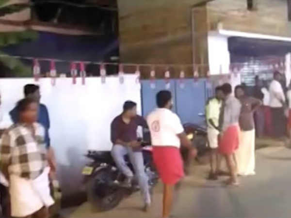 Rss Attack On Kp Jijesh Memmorial In Kannur