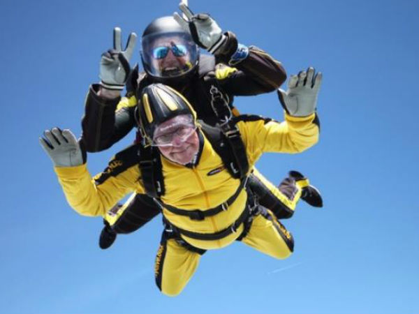 Europe 101 Year Old Breaks Skydiving World Record