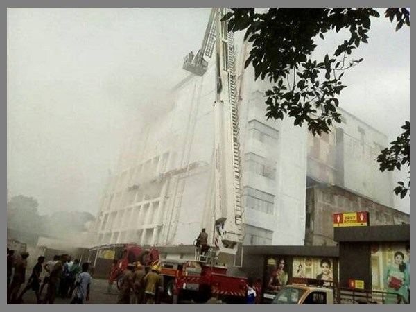 Day 2 Chennai Shop Fire Five Floors Collapse Smoke Soars