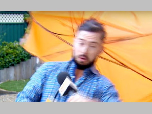 After Kerala Reporter Gets Drenched By Sea Wave This Irish Reporter Was Blown By The Wind