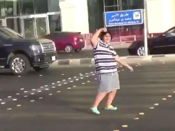 Saudi Police Detain Teenage Boy Dancing Road