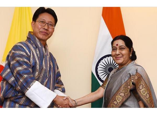 Amid Doklam Standoff Sushma Swaraj Meets Bhutanese Foreign Minister