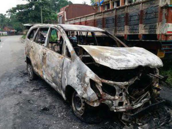 Innova Car Get Fire Thamarassery Kozhikode