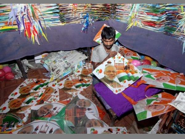 Independence Day 2017 Narendra Modi Kites Fly Across Kanpur