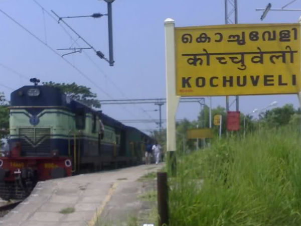 Train Engine Separated In Running From Boggies In Kochuveli