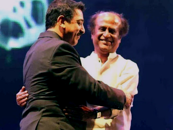 Dmk Make Appearance Rajinikanth Kamal Haasan Together Tonig