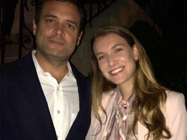 Viral Photo Of Rahul Gandhi With Spanish Actress Nathalia Ramos Is Creating A Buzz On Social Media