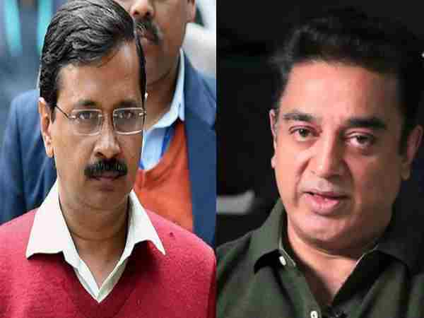 Arvind Kejriwal Meets Kamal Haasan Lunch Daughter Akshara R