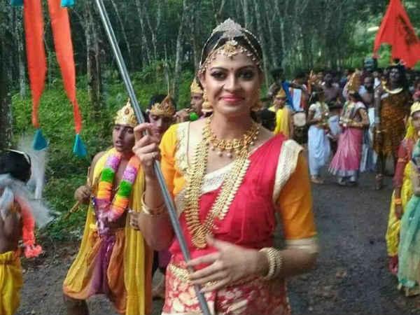Actress Anusree In Sobha Yathra Social Media Reactions