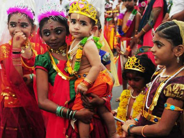 Sreekrishna Jayanthi Cpim Balagokulam Conducts Procession Kannur Security