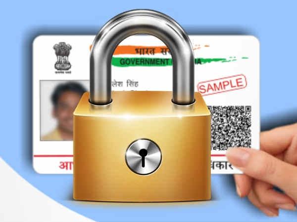 How Lock Unlock Aadhaar Card Biometric Details