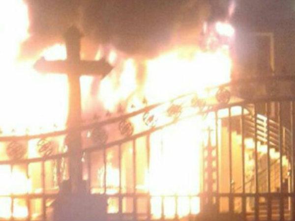 Fire In Holy Redeemer Church In Calicut