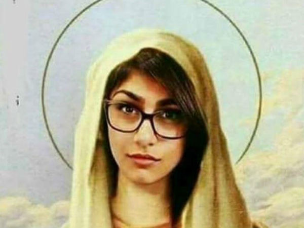 Mia Khalifa Posts Morphed Photo Of Virgin Mary Comparing Herself With Malala Netizens Unhappy
