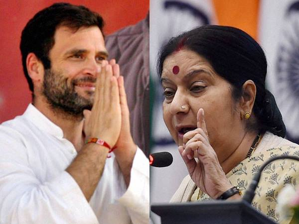 Won T React Rahul S Indecent Comment Swaraj On Shorts Remarks