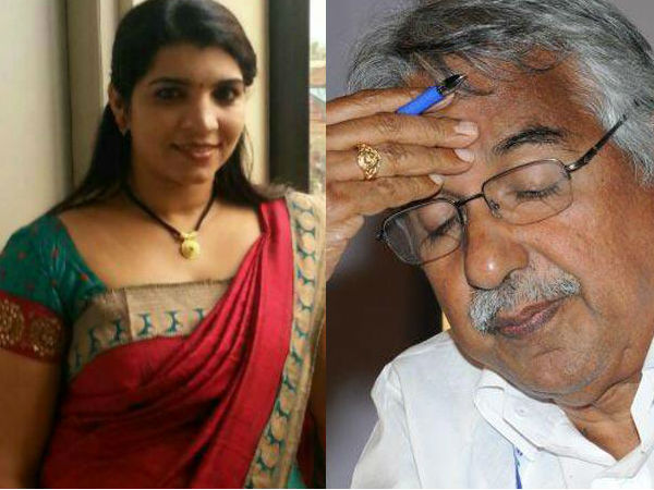 Saritha Letter Fenny Balakrishnan Against Ganesh Kumar