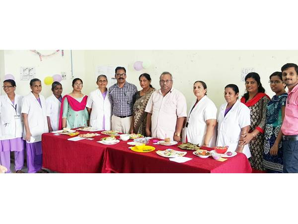 Hospital Employees Providing Food Diabetes Patients
