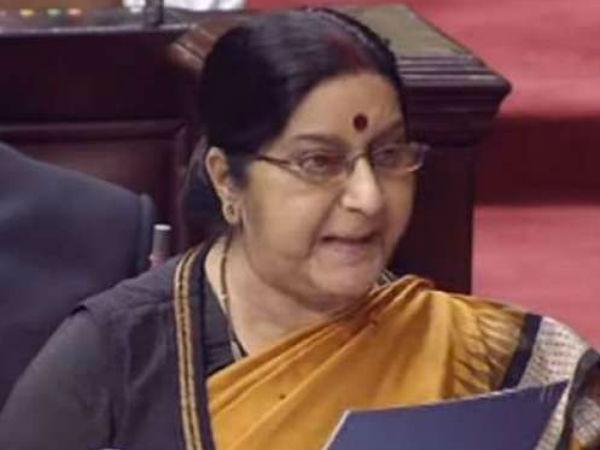 Pakistan Made Jadhavs Wife Mother Appear As Widows To Him Says Sushma Swaraj In Rajya Sabha