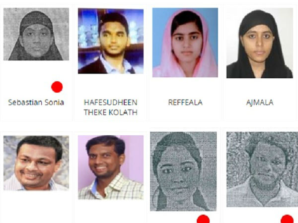 Nia Releases Pictures Woman Men Who Recruited Isis From Kerala