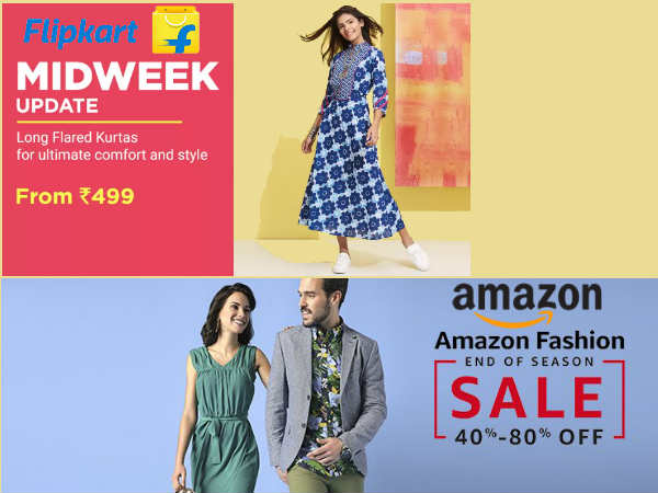 Happy New Year 2018 Amazon Flipkart Fashion Week Upto 80 Percent Off