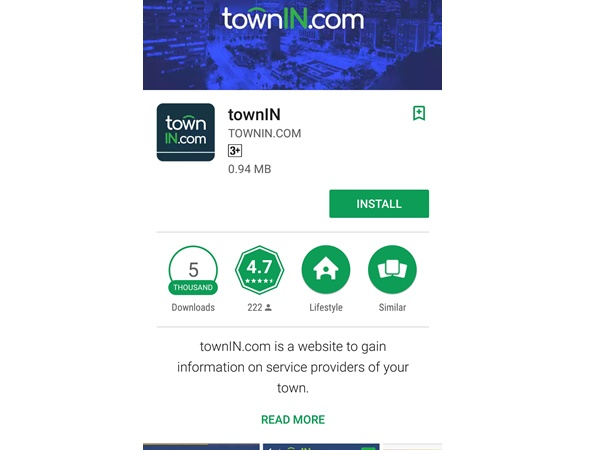 Towninn App Giving Information About Bus Timings Hotel Menu