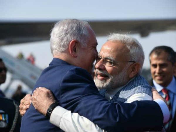 Pm Modi Breaks Protocol Receive Israeli Counterpart Delhi