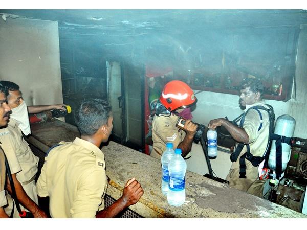 Fire Attack In Bar Hotel Kasargod