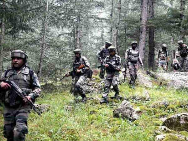 Terror Attack Foiled Firing Underway At Kashmir