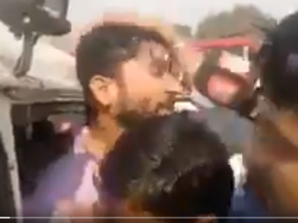 Video Shows Gujarat Mla Jignesh Mevani Pulled Out Of Car Shehla Rashid Tweeted He Had Been Abducted
