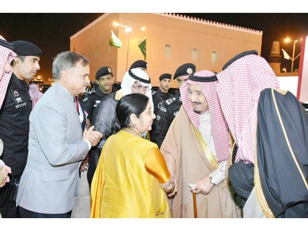 Sushma Swaraj Met With Saudi King