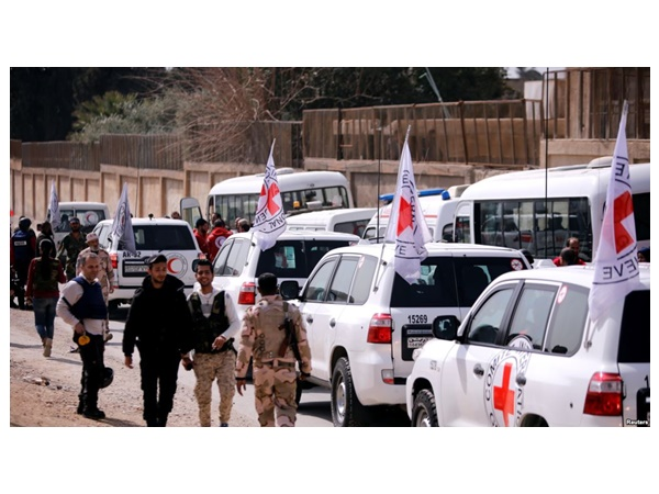 Aid Convoy Enters Besieged Eastern Ghouta