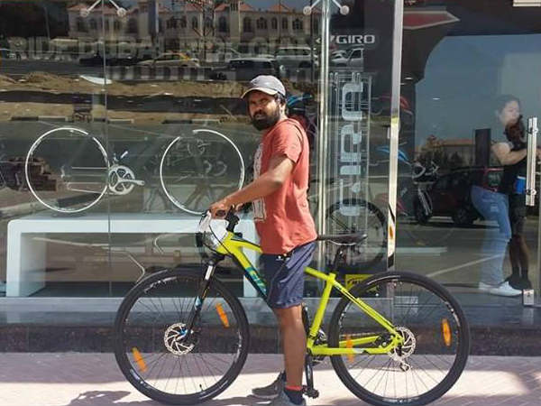 A Malayali Youth Going Russia Bicycle