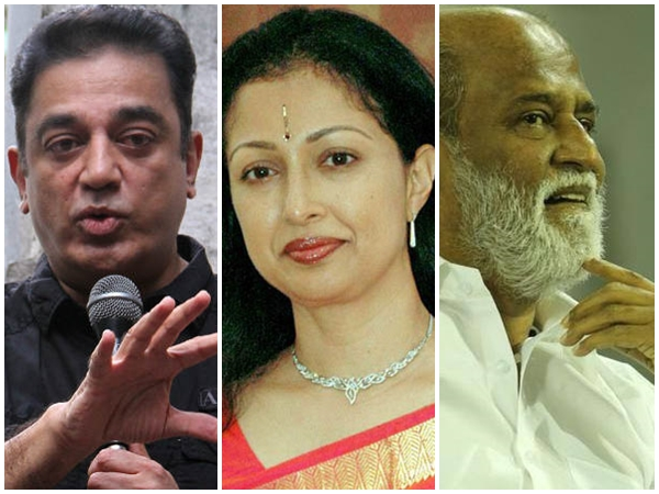 Gauthamy Criticises Kamala Hassan Rajanikanth Their Politica