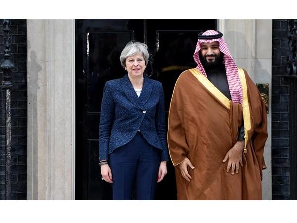 British Pm Meets Saudi Crown Prince Visit