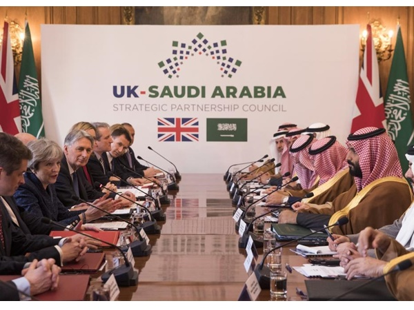 British Pm Meets Saudi Crown Prince