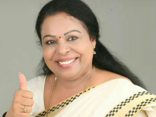 Ex Mla Shobana George Will Cooperate With Ldf Chengannur By Election