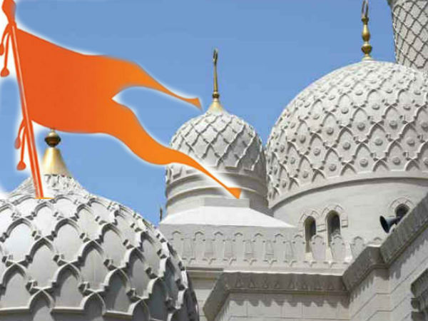 Bike Rally Stopped At Four Mosques With Swords Saffron Flags
